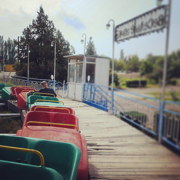 We found abandoned amusement park in the middle of nowhere.