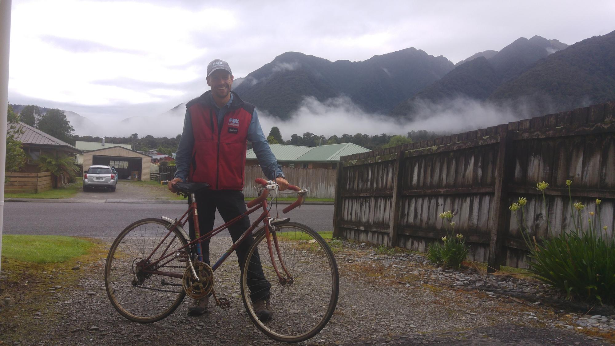 Glacier guide Duncan. Legend!