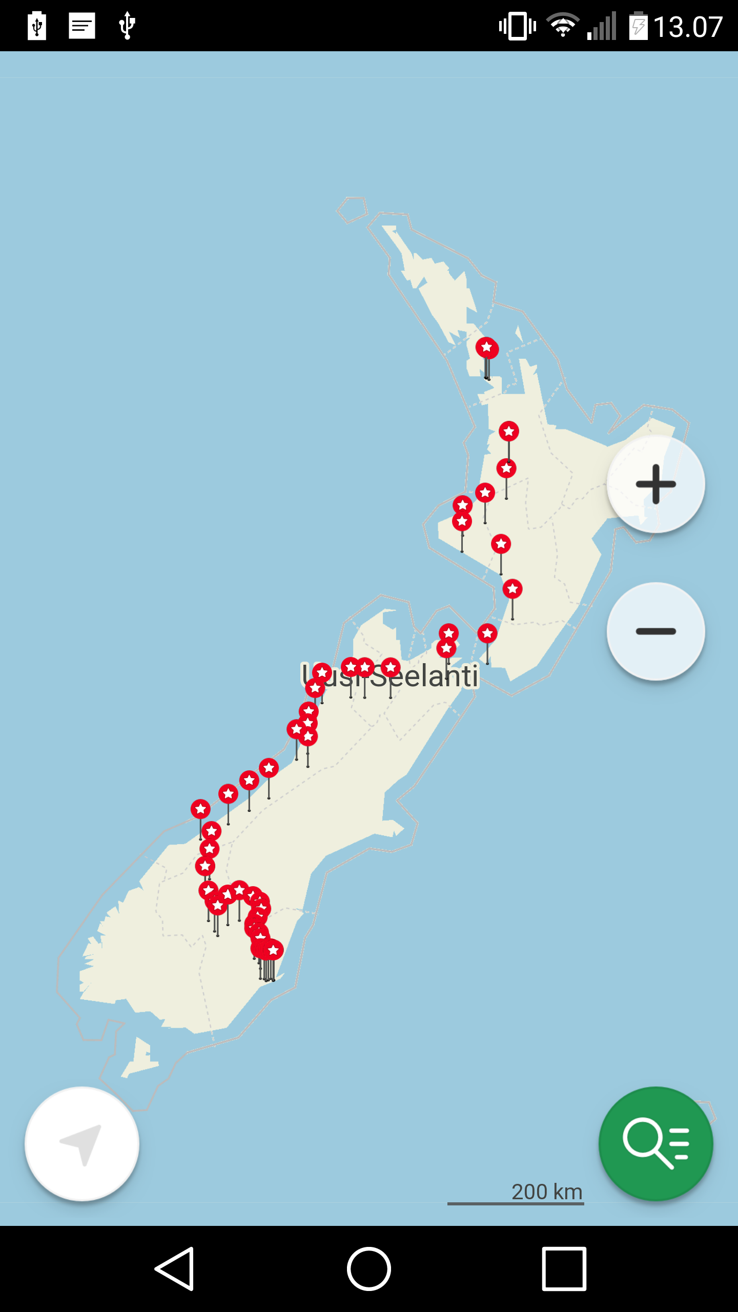 This was my route. Took about 2000 kilometers of cycling.